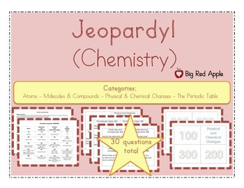 Chemistry: Jeopardy! Review Game