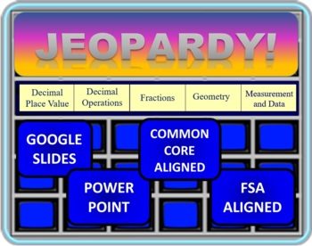 Jeopardy 5th Grade Common Core / FSA End of the Year Review