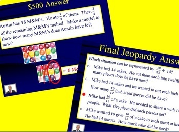 5th Grade Math Jeopardy- Fractions
