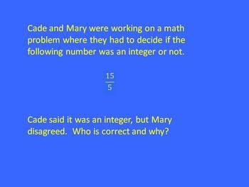 Jeopardy 7th Grade Math Common Core Adding/Subtracting Integers