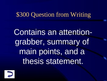 Jeopardy: 9th grade English Final Exam SKILLS review by