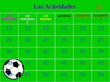 Jeopardy: Activities, Sports & Conjugation