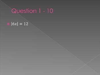 Jeopardy: Algebra II Review