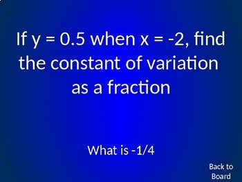 Algebra Review Game: Functions, Lines, Direct Variation, Translations