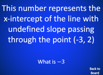 Algebra Review Game: Lines (Slope, Intercepts, Parallel/Perp Lines)