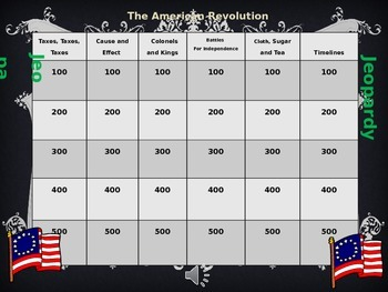 Jeopardy American Revolution