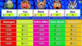 Jeopardy ~ Antonyms – Homophones – Prefixes-Suffixes – Roo