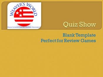 Quiz Show- Blank