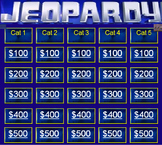 Jeopardy Blank Template
