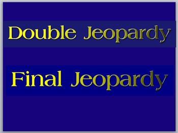 Jeopardy Blank Template