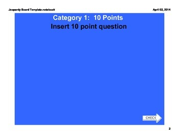 Jeopardy Board Template