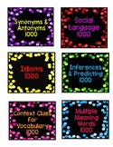 Jeopardy Cards for Speech Language Middle School Elementary Special Education