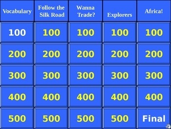 Jeopardy China, Portugal, Mali