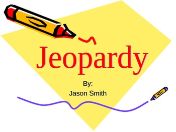 Jeopardy Curriculum Review