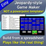 Jeopardy DLux (Mac version) - customizable game creator