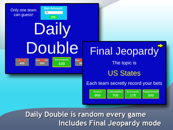 Jeopardy DLux (Windows version) - customizable game creator