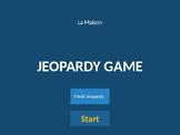 Jeopardy - Dans ma maison vocabulary