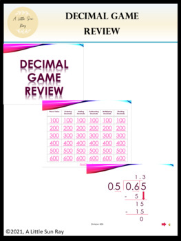 Jeopardy Decimal Review (PPT)