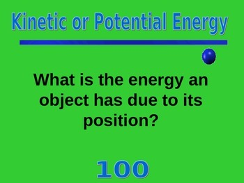 Jeopardy Energy Game