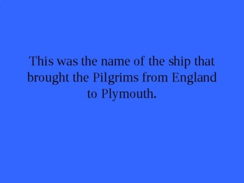Jeopardy: England's Colonies in the New World