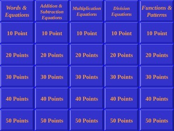 Jeopardy Equations