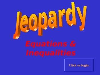 Jeopardy Equations & Inequalities