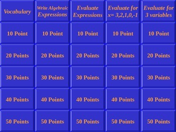 Jeopardy Expressions