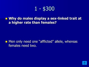 Jeopardy Final Review for Biology