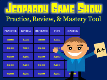 Fractions Review: Math Jeopardy Game Show