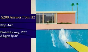 Jeopardy Game - Art & Artists of the 20th Century