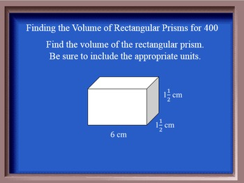 Jeopardy Game 6th Grade Common Core Geometry Unit
