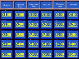 Jeopardy Game: 6th Grade Common Core Unit on Ratios, Rates, Proportionality