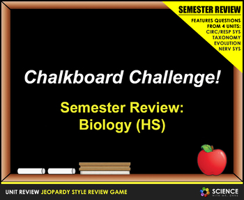 Jeopardy Game: Biology Semester Review (Evolution, Taxonomy, Organ Systems)