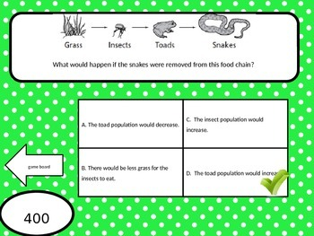 Jeopardy Game! Chapter 1: Cells & Ecosystems