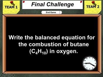 Jeopardy Game: Chemical Reactions Review