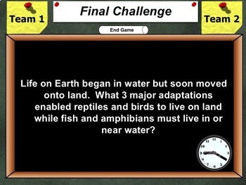 Jeopardy Game: Classification of Living Things Unit Review