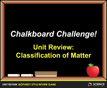 Jeopardy Game: Classification of Matter Review