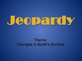 Jeopardy Game Earth Surface Review Editable