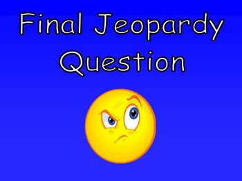 Jeopardy Game (Easy to modify for your class!) - 66 slide Power Point