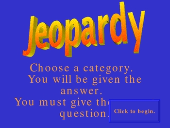 Jeopardy Game for Reviewing Animal Farm by George Orwell