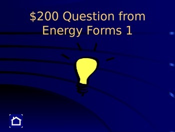 Middle School Science Jeopardy Game - Forms of Energy & Energy Transformations
