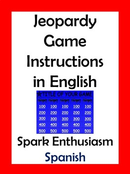 Jeopardy Game Instructions in English