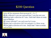 Jeopardy Game Multiplication