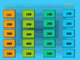 Jeopardy Game - Nouns, Verbs, Adj, Sub/Predi, Compound Sentences