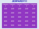Jeopardy Game Outline on Powerpoint