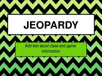 Jeopardy Game PPT Templates