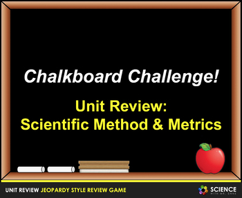 Jeopardy Game: Scientific Method and Measurement Review