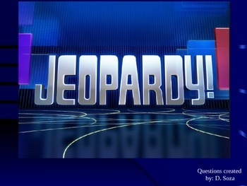 Jeopardy Game- Sentence Types, Fragments, Run-ons