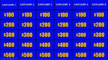 jeopardy template powerpoint by connor bradley  tpt, Powerpoint