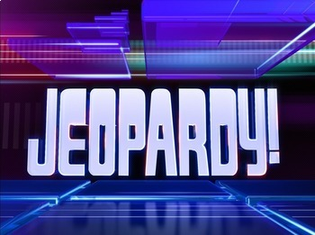 Jeopardy Template - Review Game (PowerPoint)